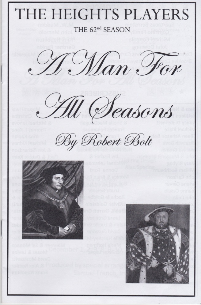 OOB A Man For All Seasons