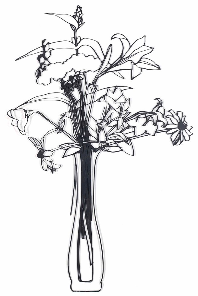 2018_NYR_16121_0152_000(tom_wesselmann_steel_drawing_wildflower_bouquet_edition)